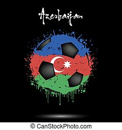 Soccer ball in the colors of the Azerbaijan flag