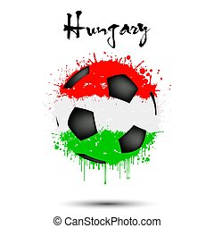 Soccer ball in the colors of the Hungary flag