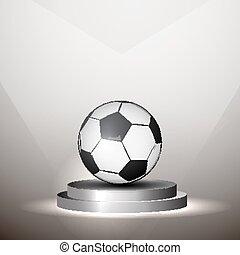 soccer ball in the middle of championship