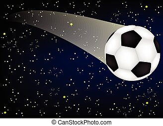 soccer ball in the night sky