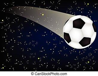 soccer ball in the night sky