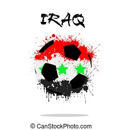 Soccer ball in the shape of Iraq flag