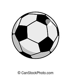 Soccer ball isolated. Football on white background sport accessory
