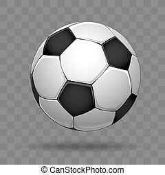 Soccer Ball Isolated On White Background Soccer Ball Vector