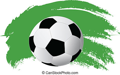 soccer ball isolated on white backg