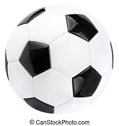 soccer ball isolated on white background with clipping path