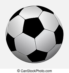 Soccer ball isolated on white background. Vector