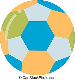 Soccer ball isolated on white illustration.