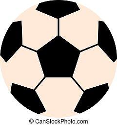 Soccer ball isolated on white illustration.