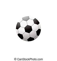 Soccer ball isolated on white on white background