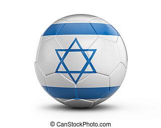 Soccer ball Israel flag