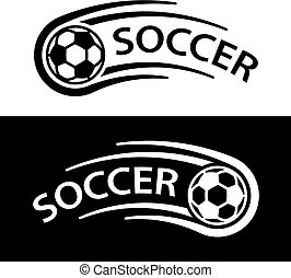 soccer ball motion line symbol - illustration for the web