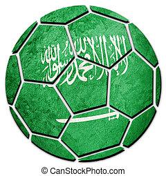 Soccer ball national Saudi Arabia flag. Saudi Arabia...