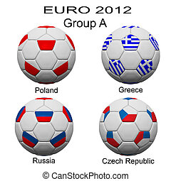 Soccer ball of final team  in Euro 2012  category by group