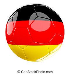 soccer ball of germany - 3d soccer ball of germany
