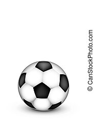 Soccer ball on a white background.