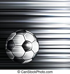 Soccer ball on abstract background.