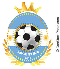 Soccer ball on Argentina flag
