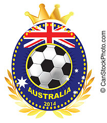 Soccer ball on Australia flag