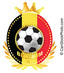 Soccer ball on Belgium flag