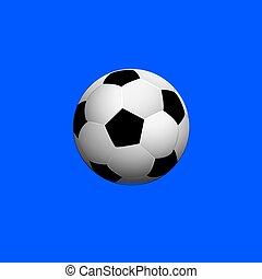 Soccer ball on blue background,