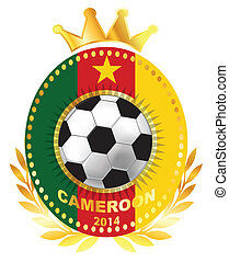 Soccer ball on Cameroon flag