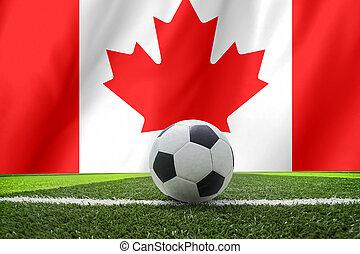 soccer ball on canada flag