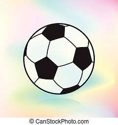 Soccer Ball on colorful background banner