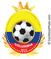 Soccer ball on Columbia flag