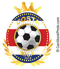 Soccer ball on Costa Rica flag