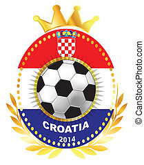 Soccer ball on Croatia flag