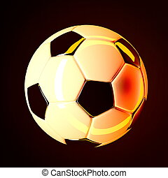 Soccer ball on dark background 3d render