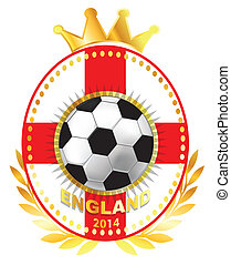 Soccer ball on England flag