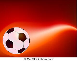 Soccer Ball on Fire. EPS 8