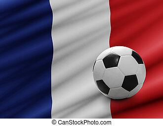Soccer ball on France flag