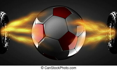 soccer ball on hologram