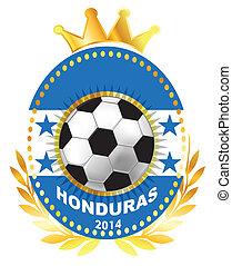 Soccer ball on Honduras flag