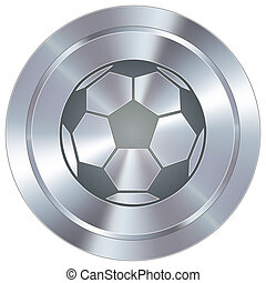 Soccer ball on industrial button