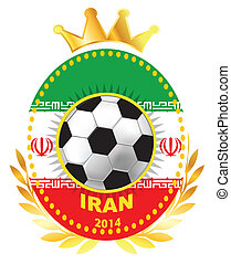 Soccer ball on Iran flag