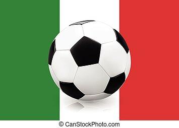 Soccer ball on Italian flag