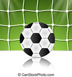 Soccer ball on the background grid. Brazil World Cup football 2014.