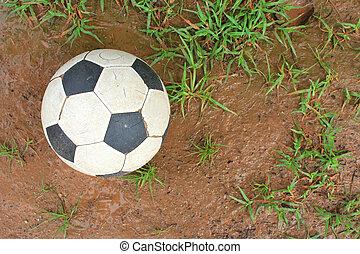 Soccer ball on turf