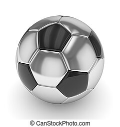 Soccer ball on white. 3D rendering.