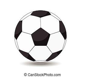 soccer ball on white background