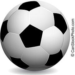 Soccer ball, on white background,