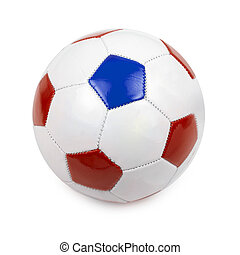soccer ball on white - soccer ball with euro 2016 countries...