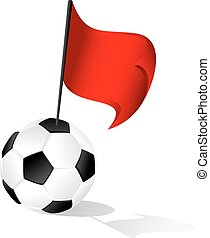 Soccer Ball or FootBall Red Penalty Flag