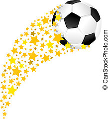 Soccer Ball or Football Star Field Swoosh