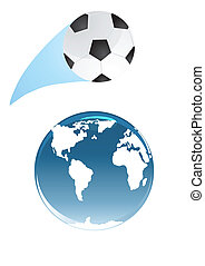 soccer ball orbits earth