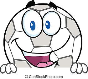 Soccer Ball Over Blank Sign